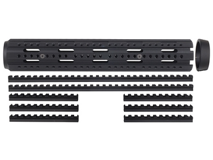 Advanced Technology 2-Piece Handguard 8-Rail AR-15 Rifle Length with Combo Rail Package Aluminum Black