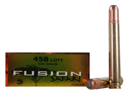 Federal Fusion Safari Ammunition 458 Lott 500 Grain Spitzer Boat Tail Box of 20