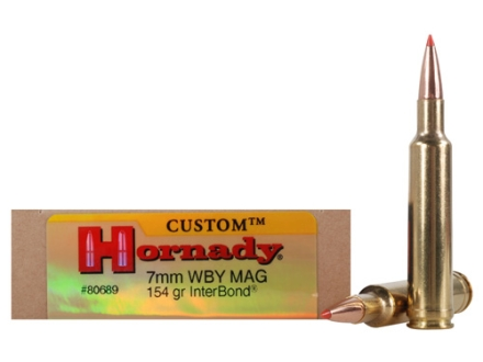 Hornady Custom Ammunition 7mm Weatherby Magnum 154 Grain InterBond Box of 20