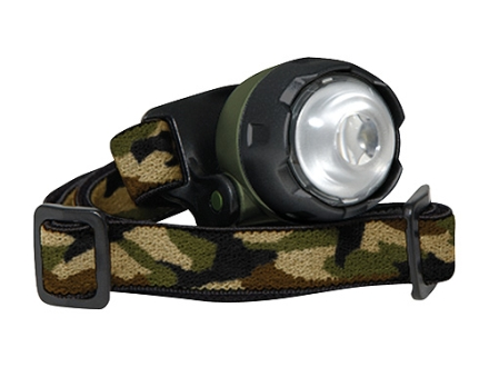 Cyclops Atom Headlamp White LED with Batteries (2 CR2032) Polymer Camo