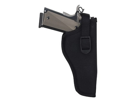 Uncle Mike&#39;s Sidekick Hip Holster Right Hand Medium and Large Double Action Revolver 6&quot; Barrel Nylon Black