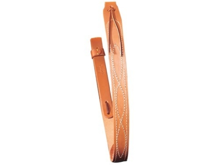 Hunter Deluxe Carrying Strap Sling with Stitched Design and No Metal Hardware Fits 1&quot; Sling Swivels Leather Brown