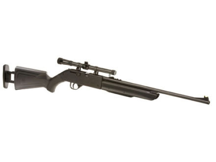 Crosman Recruit Air Rifle .177 Caliber Polymer Stock Black Blue Barrel