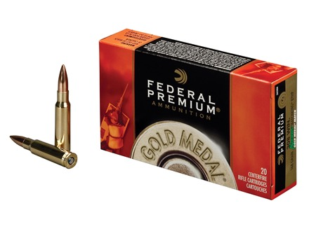 Federal Premium Gold Medal Ammunition 308 Winchester 168 Grain Sierra MatchKing Hollow Point Boat Tail Box of 20