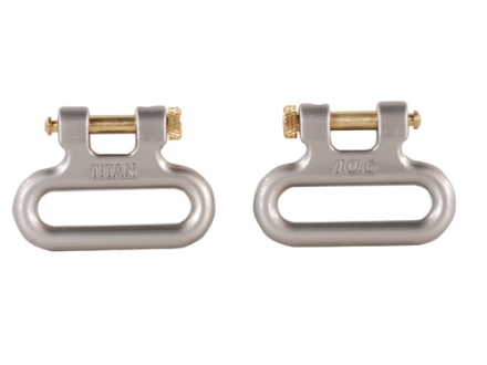 "The Outdoor Connection Titan Q-R Detachable Sling Swivels 1"" Stainless Steel Gray (1 Pair)"