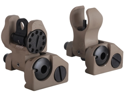 Troy Industries Micro Flip-Up Battle Sight Set HK-Style Front & Standard Rear AR-15 Flat Dark Earth
