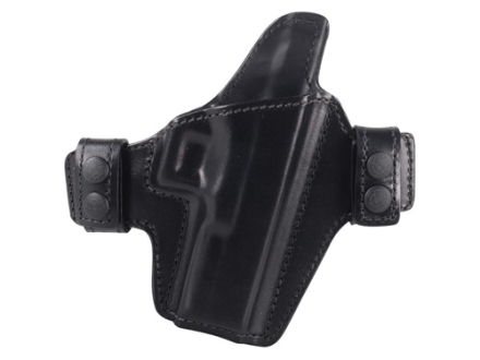 Bianchi Allusion Series 125 Consent Outside the Waistband Holster Right Hand Glock 17, 22, 31 Leather Black