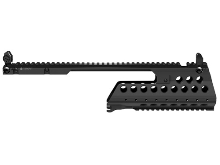 Troy Industries G36-E/K Battle Rail 2-Piece Customizable Rail System with Flip-Up Iron Sights HK G36 Black