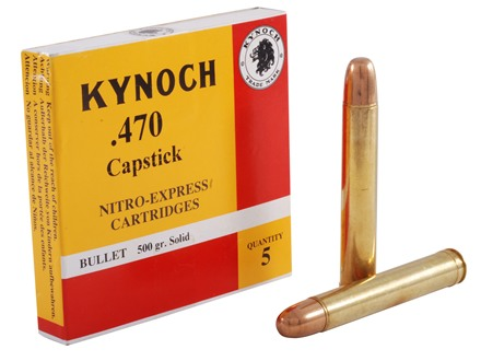 Kynoch Ammunition 470 Capstick 500 Grain Woodleigh Welded Core Solid Box of 5
