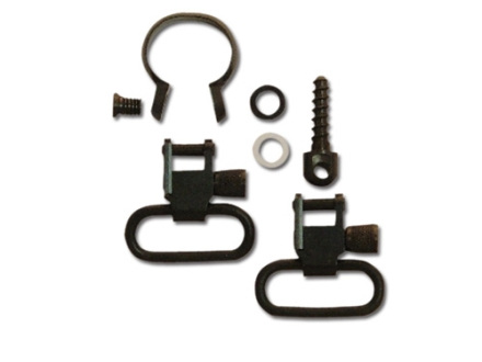 GrovTec Sling Swivel Studs with 1&quot; Locking Swivels and Barrel Band Set Remington 760 and 7600 (1969 to Current) Steel Black