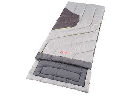 "Coleman Comfort Control 30-70 Degree Sleeping Bag 33"" x 78"" Polyester Green and Gray"