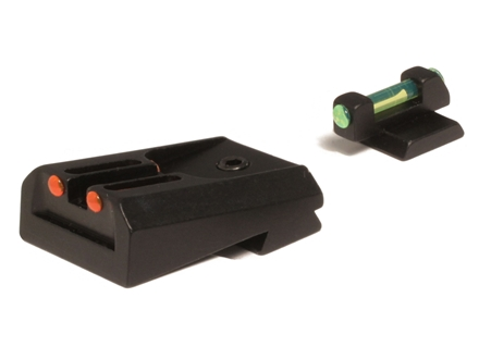 Williams Fire Sight Set 1911 Kimber Fiber Optic Red Front, Green Rear Steel Blue