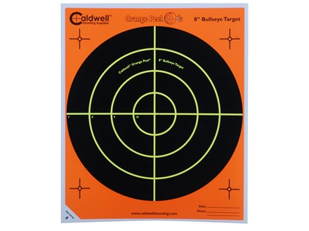 Caldwell Orange Peel Target 8&quot; Self-Adhesive Bullseye Package of 100
