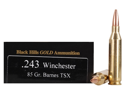 Black Hills Gold Ammunition 243 Winchester 85 Grain Barnes Triple-Shock X Bullet Hollow Point Box of 20