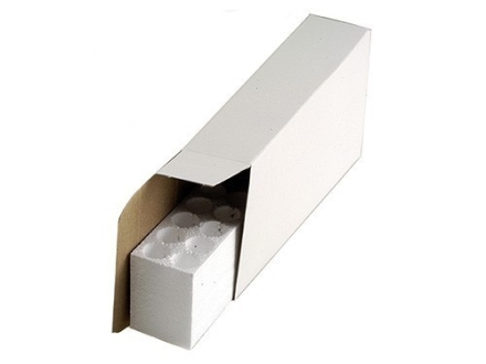CB-09 Ammo Box with Styrofoam Tray 22-250 Remington, 243 Winchester, 308 Winchester 20-Round Cardboard White Box of 100