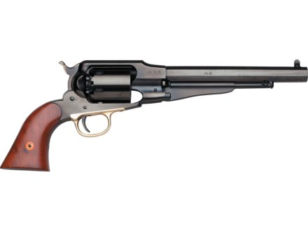"Uberti 1858 Remington New Model Navy Steel Frame Black Powder Revolver 36 Caliber 7-3/8"" Blue Barrel"