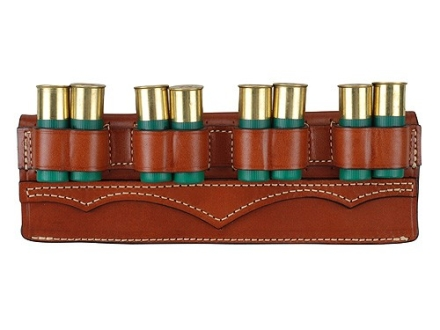 Hunter Belt Slide Shotshell Ammunition Carrier 8-Round 12 Gauge Leather Chestnut