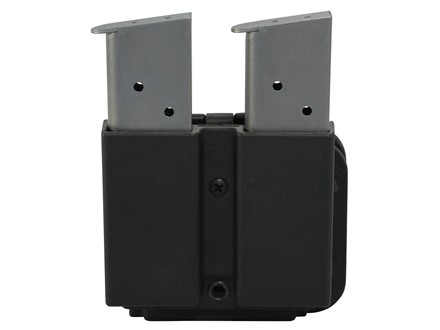 Blade-Tech Revolution Double Pistol &amp; Rifle Magazine Pouch Glock 10mm, 45 ACP and AR-15 Tek-Lok Polymer Black