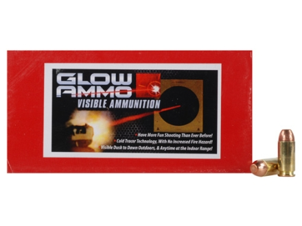 Glow Ammo Visible Ammunition 40 S&amp;W 180 Grain Flat Point Box of 50
