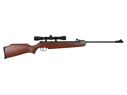 Ruger Air Hawk Air Rifle 177 Caliber Wood Stock Blue Barrel with Scope 4x 32mm Matte