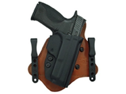 Comp-Tac Minotaur MTAC Inside the Waistband Holster Right Hand Glock 26, 27, 28, 33 Kydex and Leather Black/Tan