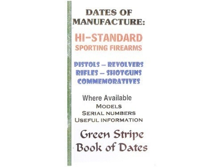 Green Stripe Data Books &quot;Hi-Standard&quot; Book by Firing Pin Enterprises
