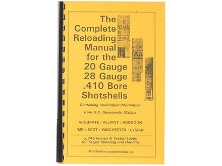 Loadbooks USA &quot;20, 28 and 410 Gauge Shotshells&quot; Reloading Manual
