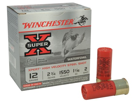 Winchester Xpert High Velocity Ammunition 12 Gauge 2-3/4&quot; 1-1/16 oz #2 Non-Toxic Steel Shot
