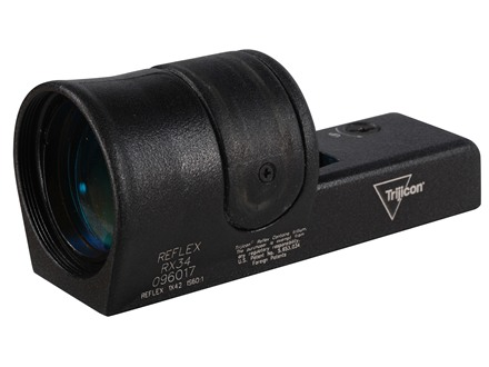 Trijicon Advanced-Combat Reflex RX34 Sight 6.5 MOA Dual Illumination Amber Dot 42mm Objective without Mount Matte