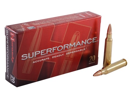 Hornady SUPERFORMANCE Ammunition 5.56x45mm NATO 55 Grain Gilding Metal Expanding Boat Tail Box of 20