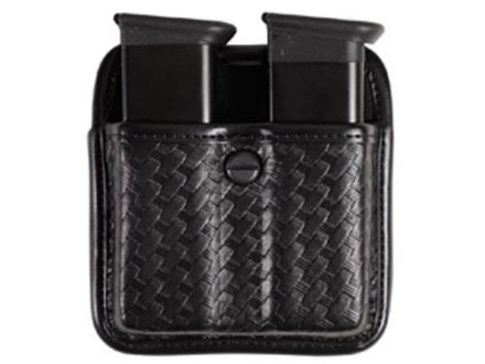 Bianchi 7922 AccuMold Elite Triple Threat 2 Magazine Pouch 1911, Ruger P90, S&W 909, 3913, Sig Sauer P220, P225, P239 Trilaminate Basketweave Black