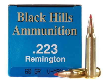 Black Hills Remanufactured Ammunition 223 Remington 60 Grain Hornady V-Max Box of 50