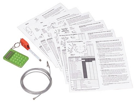 Allen Antler Scoring Kit with Measuring Cable, Tape Measure, Calculator and Scoring Charts for Whitetail Deer, Mule Deer, Elk, Bear and Antelope
