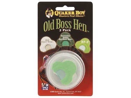Quaker Boy Old Boss Hen Diaphragm Turkey Call Pack of 3