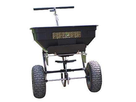Biologic Push Broadcast Spreader Steel and Polymer Black