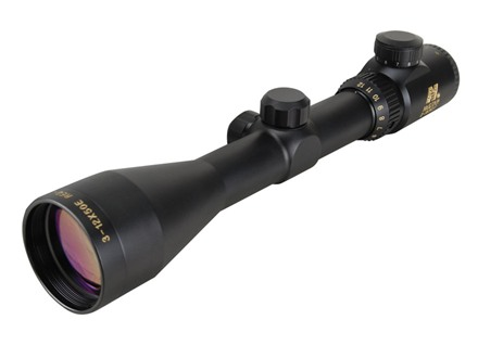 NcStar Euro Rifle Scope 30mm Tube 3-12x 50mm Illuminated Red Dot Reticle Matte with Weaver-Style Rings
