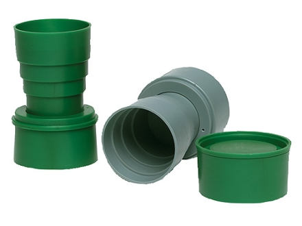 Texsport Collapsible Cup Polymer Green and Gray Pack of 2