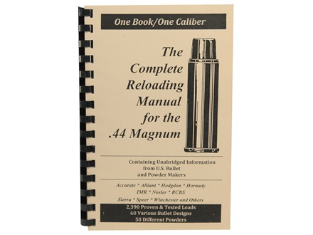 "Loadbooks USA ""44 Remington Magnum"" Reloading Manual"