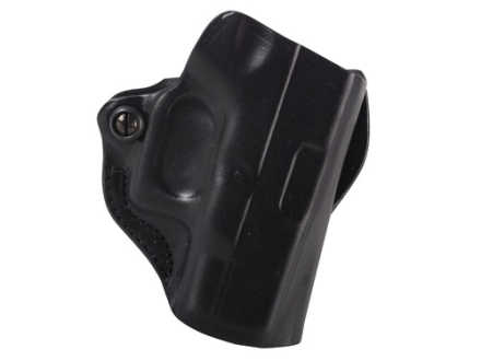 DeSantis Mini Scabbard Outside the Waistband Holster Right Hand Glock 26, 27, 33 Leather Black