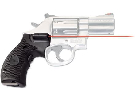 Crimson Trace Lasergrips S&amp;W K, L-Frame Round Butt Open Backstrap Overmolded Rubber Black