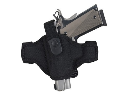 Bianchi 7506 AccuMold Belt Slide Holster Left Hand Beretta 84, 84F, 85, 85F Cheetah, 85 Puma, Bersa Thunder 380, Browning Hi-Power Nylon Black