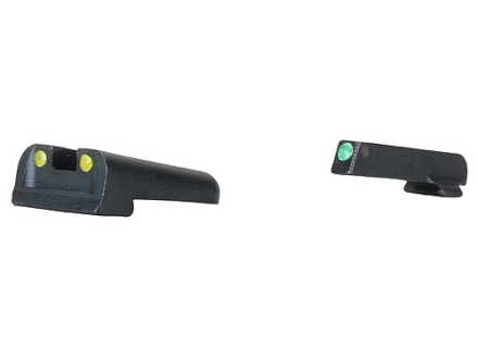 TRUGLO TFO Sight Set Springfield XD, XDM Steel Tritium / Fiber Optic Green Front, Yellow Rear