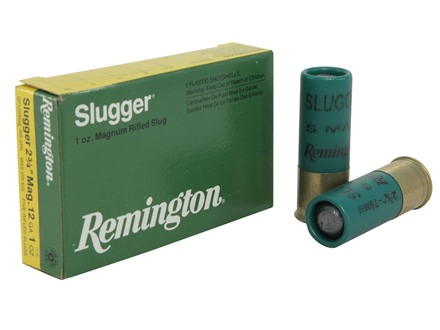 "Remington Slugger Ammunition 12 Gauge 2-3/4"" 1 oz Rifled Slug Box of 5"