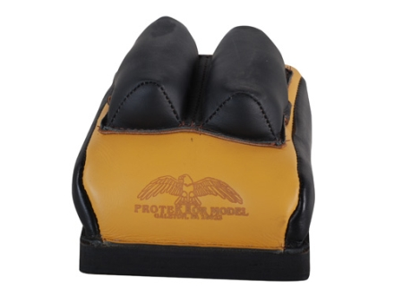 Protektor Custom Bumble Bee Dr Bunny Ear Rear Shooting Rest Bag Leather Tan Filled