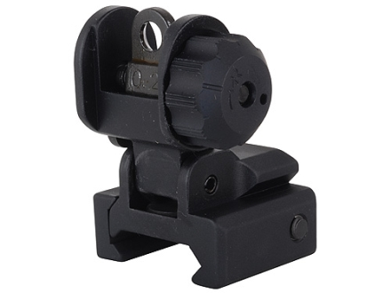 GG&G Flip-Up Rear Sight with Locking Detent AR-15 Flat-Top Aluminum Matte