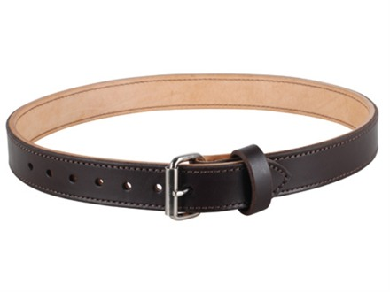 "Lenwood Leather Double Layer Belt 1.5"" Steel Buckle Leather"