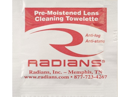 Radians Lens Cleaning Towelettes