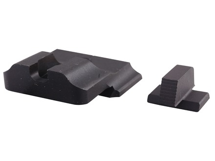 Warren Tactical Sight Set S&W M&P Pro, M&P L-Series Plain Tactical Rear, Serrated Front Steel Matte