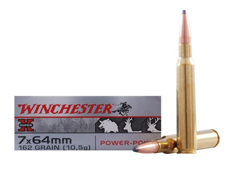 Winchester Super-X Ammunition 7x64mm Brenneke 162 Grain Power-Point Box of 20