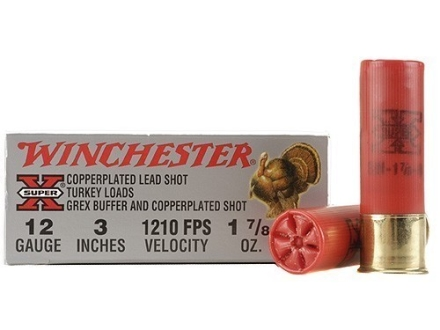 Winchester Super-X Turkey Ammunition 12 Gauge 3&quot; 1-7/8 oz #4 Copper Plated Shot